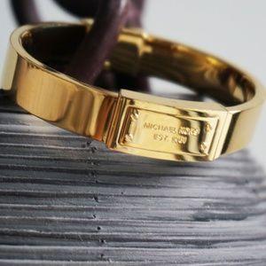 Michael Kors Jewelry - Micheal Kors Gold Logo Bangle Bracelet